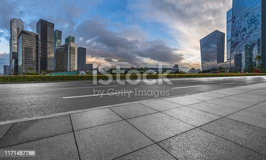 City, City Street, Cityscape, Dividing Line, Highway