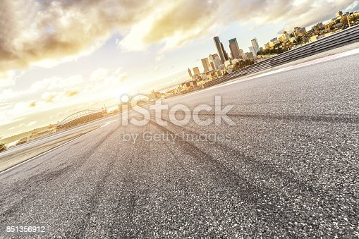 860403416istockphoto empty asphalt road with cityscape of modern city 851356912