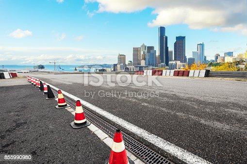 860403416istockphoto empty asphalt road with cityscape of modern city 855990980