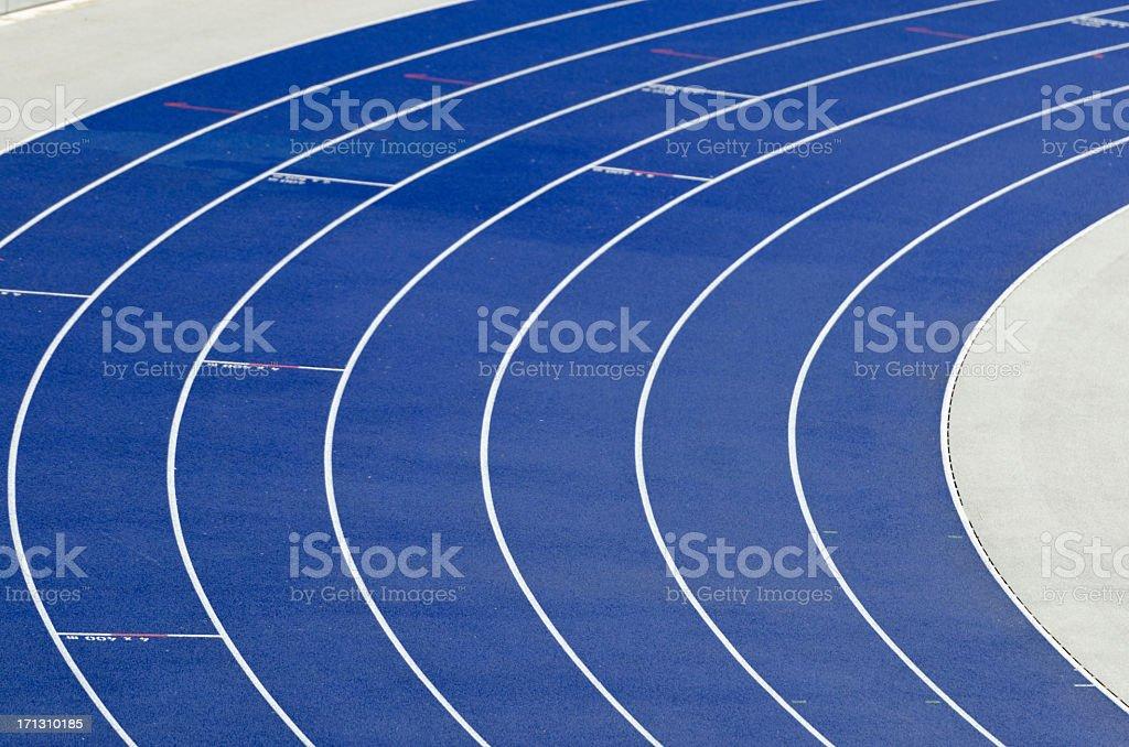 Empty athletics track royalty-free stock photo