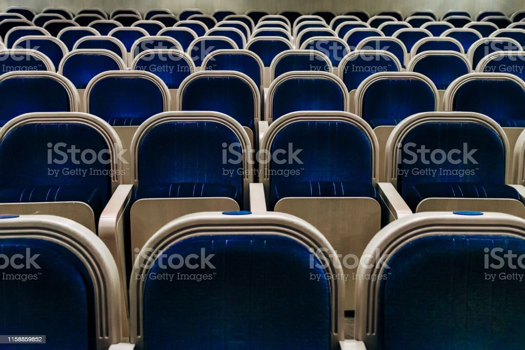 Empty auditorium of theater, cinema, conference, assembly or concert...