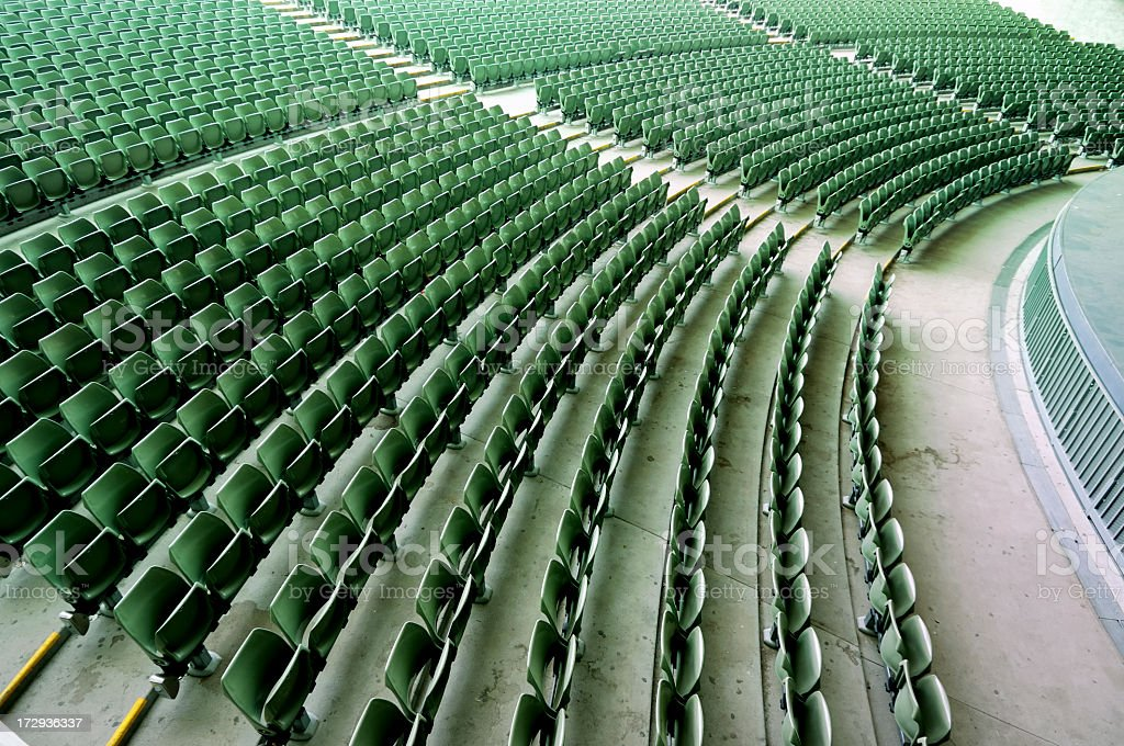 Empty Auditorium Seating royalty-free stock photo
