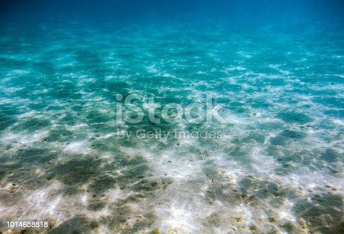 istock Empty azure sand seabed 1014658818