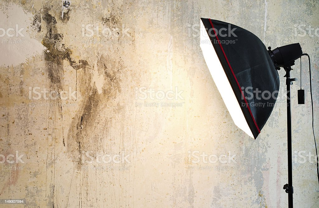 Empty background inside photo studio royalty-free stock photo