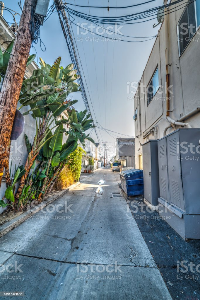 Empty backstreet in Los Angeles - Royalty-free Architecture Stock Photo