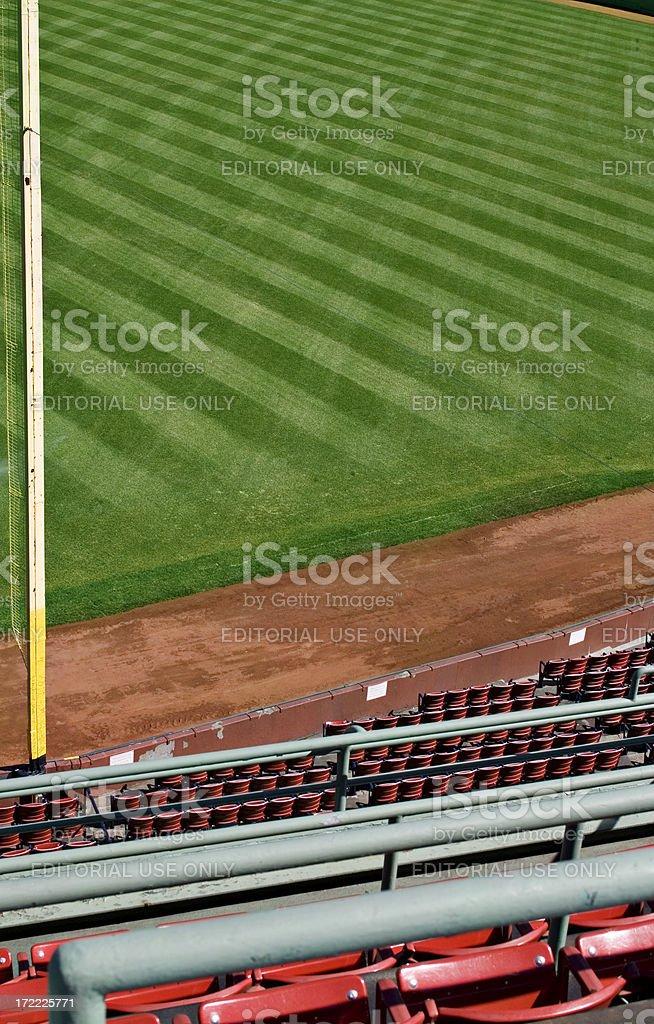 Empty Ball Park stock photo