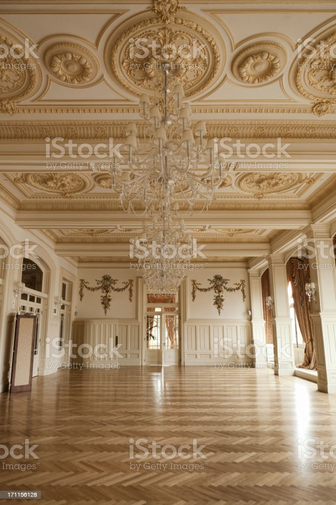 empty Ballroom stock photo