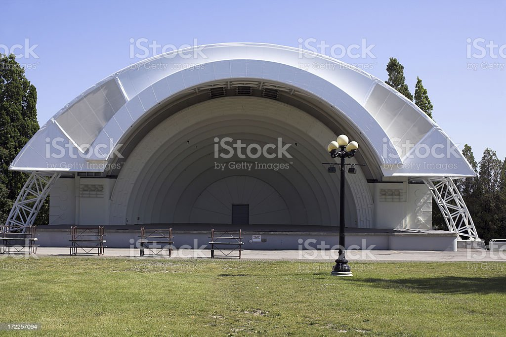 Empty bandstand royalty-free stock photo