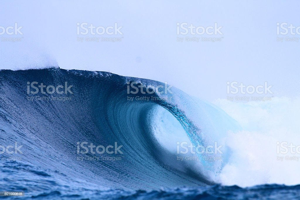 Empty barrel wave stock photo