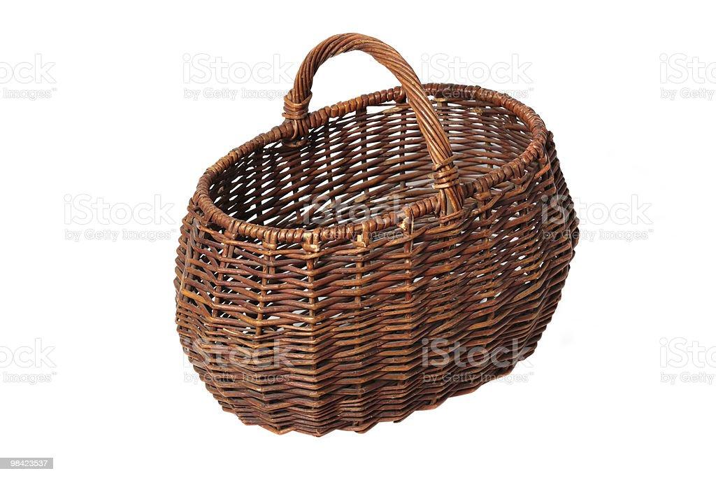 Empty basket royalty-free stock photo