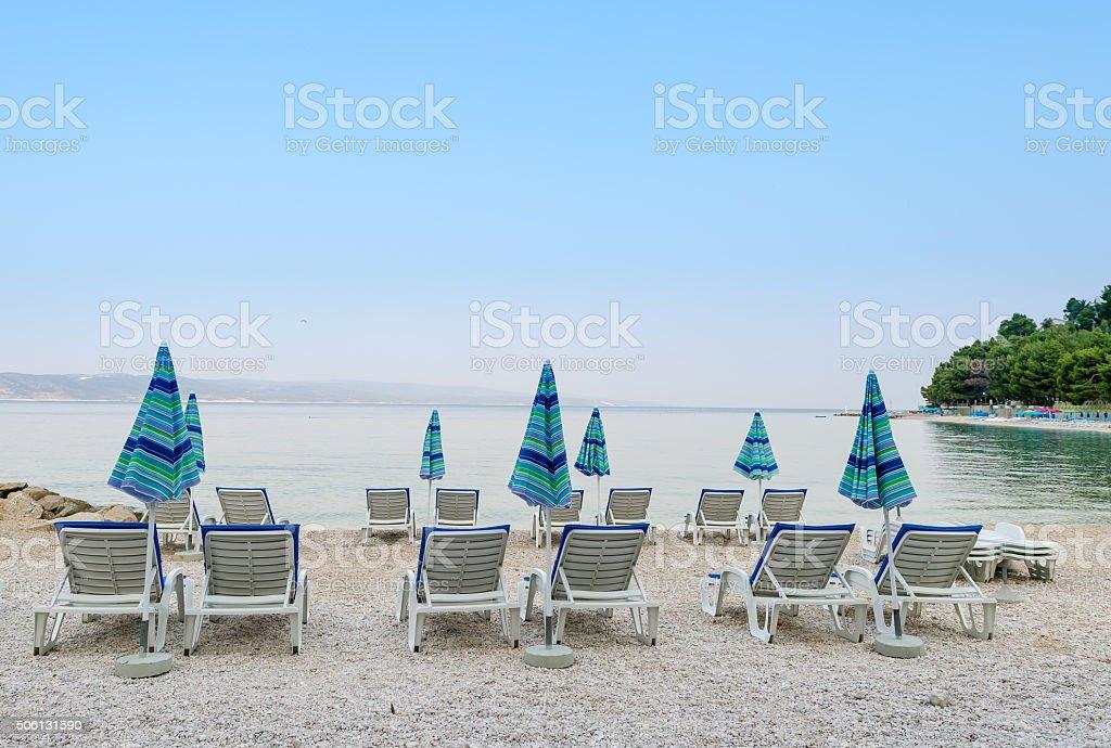 Leere Strand in den frühen Morgen, Kroatien. – Foto