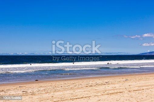 Empty Venice beach in Santa Monica