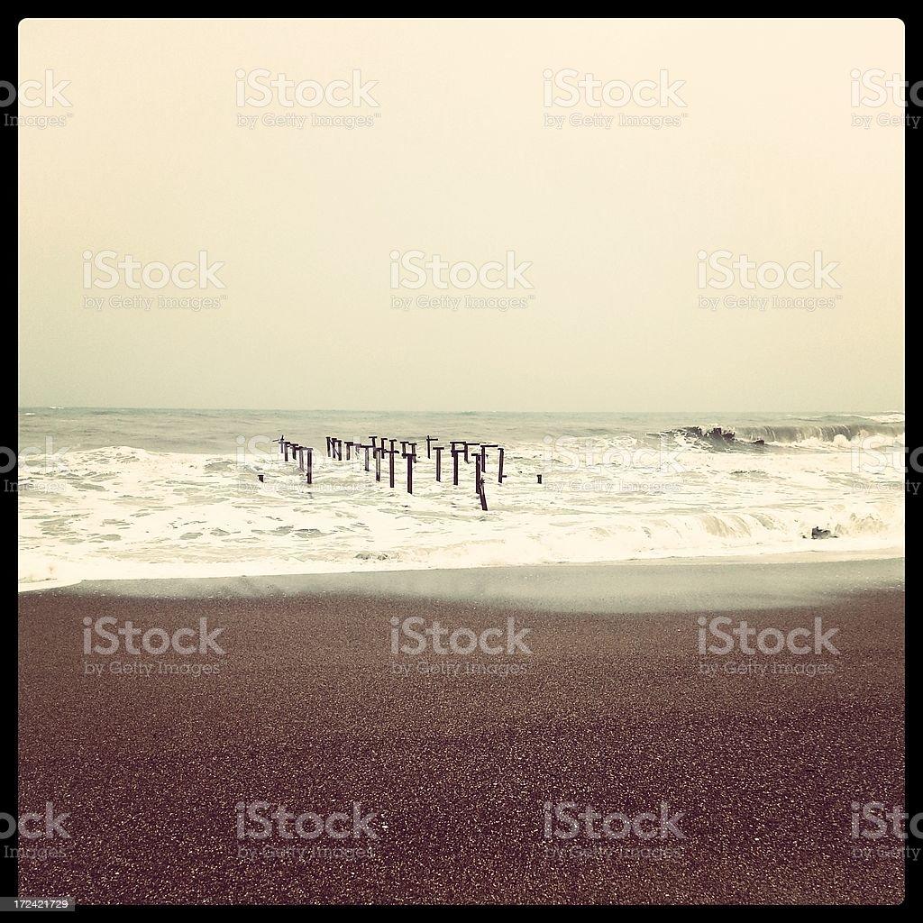 Empty beach royalty-free stock photo