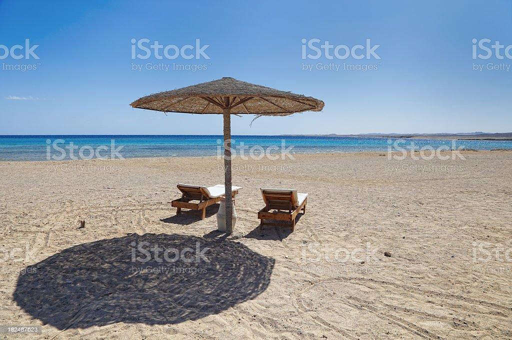 Empty beach stock photo
