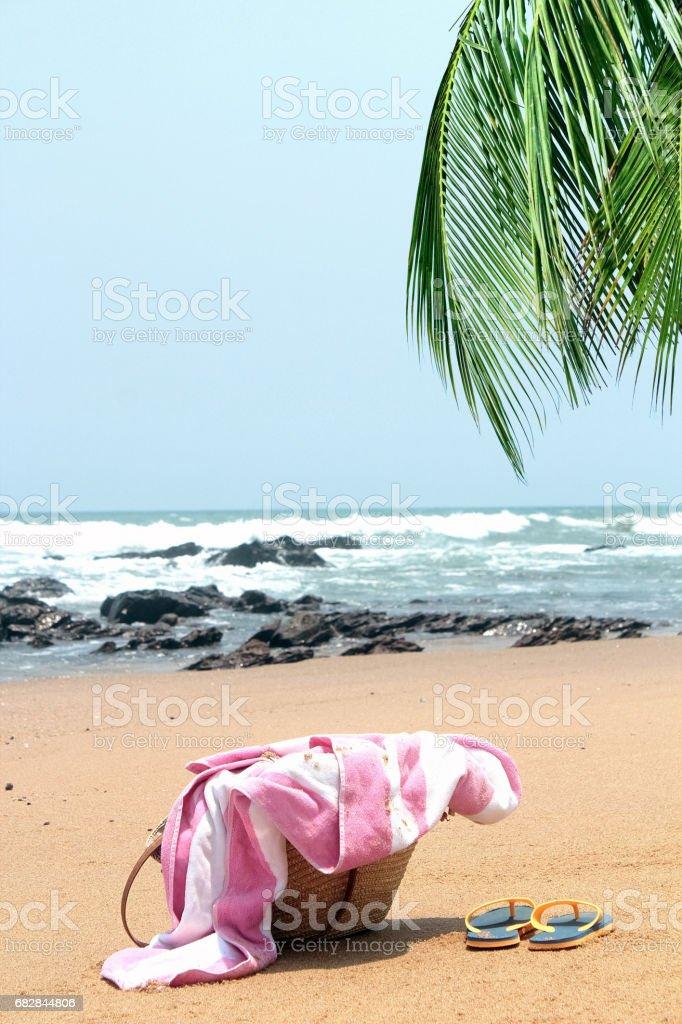 Empty beach Lizenzfreies stock-foto