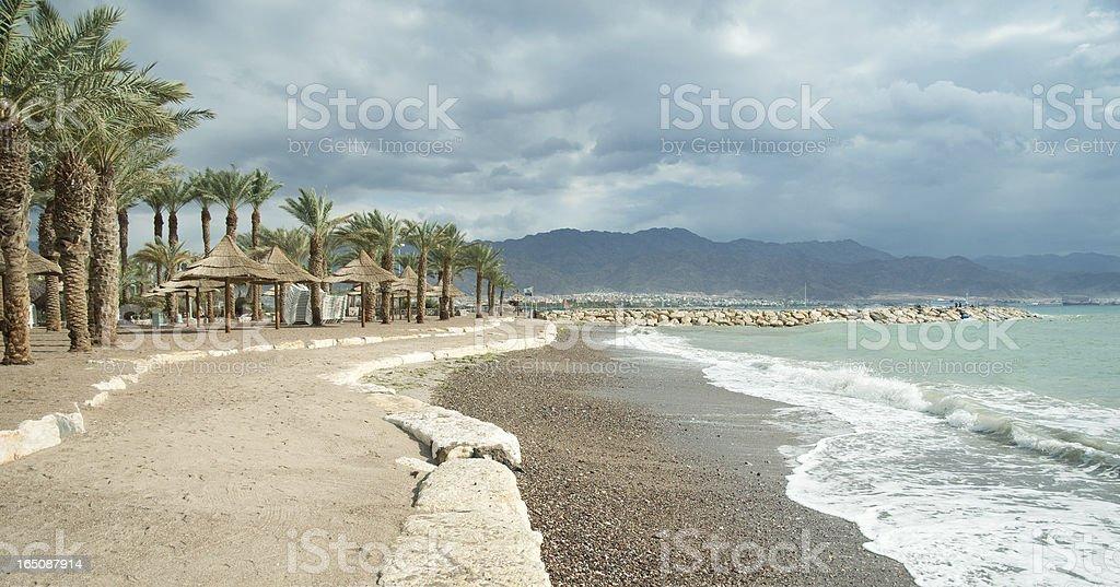 Empty beach, Red sea royalty-free stock photo