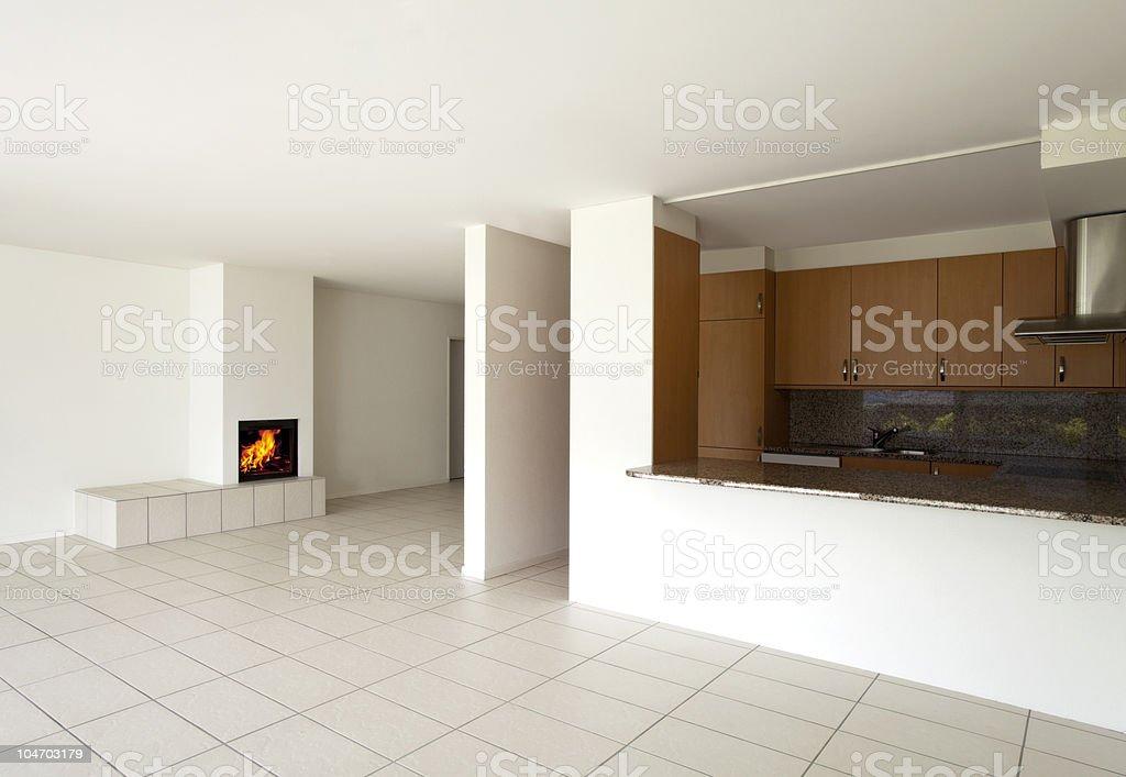 empty beautiful flat royalty-free stock photo