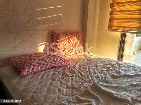 Pillows through sunset