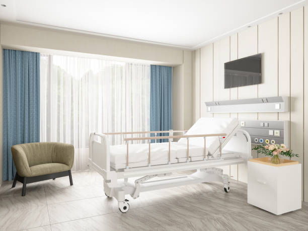 Leeres Bett in einem modernen Krankenhaus – Foto