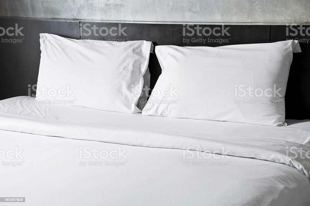 Empty bed. stock photo