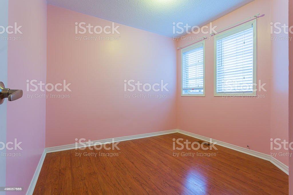 Leere Schlafzimmer In Rosa Farbe Stockfoto und mehr Bilder ...