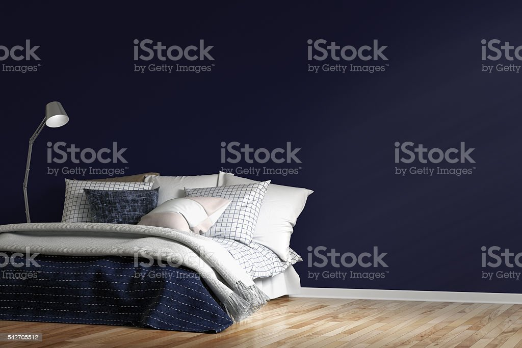 Empty bedroom with decoration stock photo