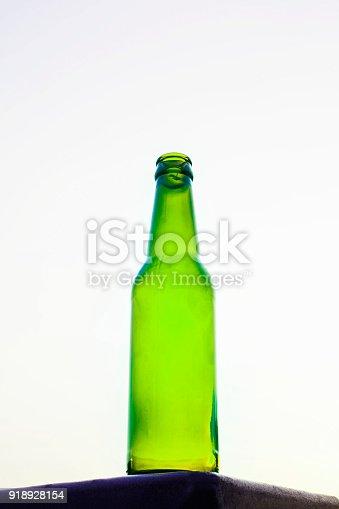 1073474208istockphoto Empty beer bottle isolated on white background 918928154