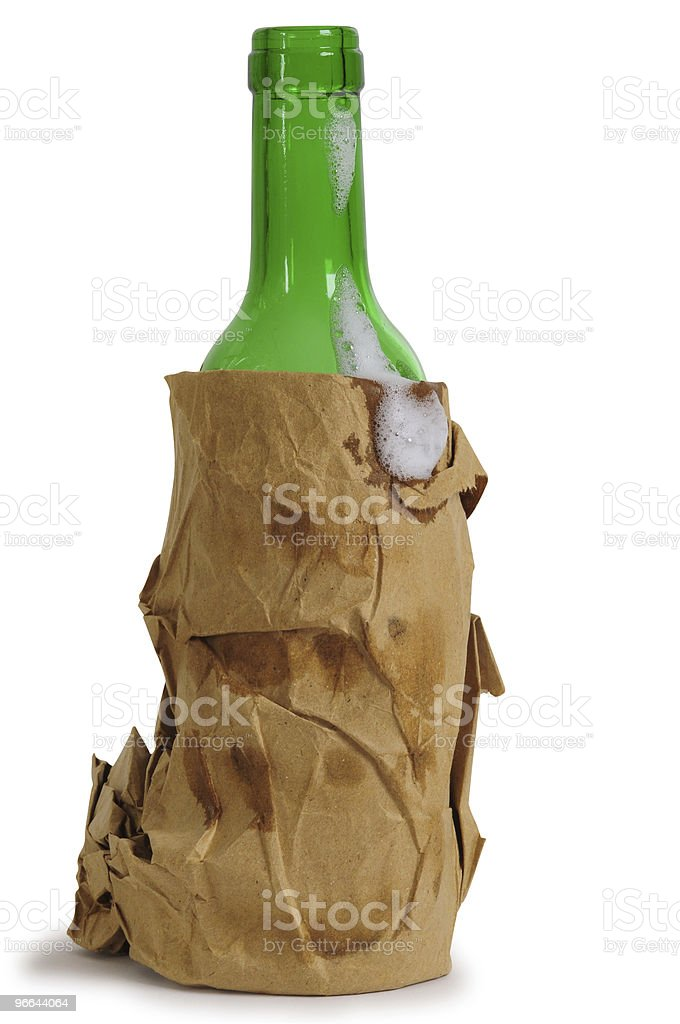 Empty beer bottle. stock photo
