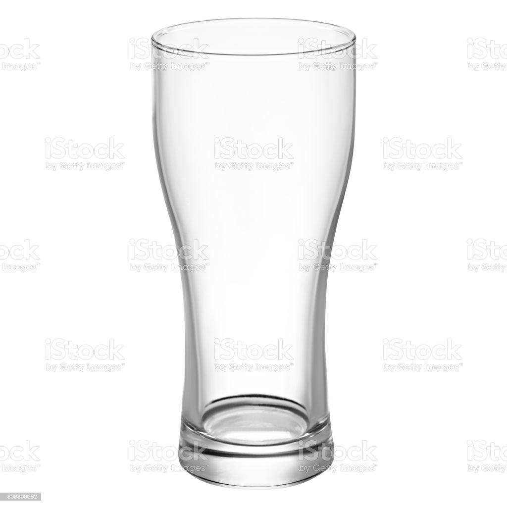 Empty beer glass for beer stock photo