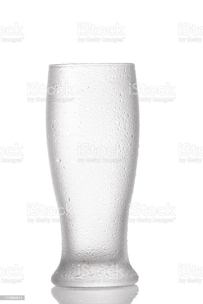 Empty beer glass stock photo