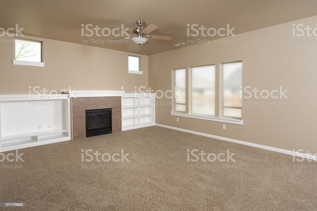 Empty Beige With Carpet Living Room Stock Photo Download Image Now Istock