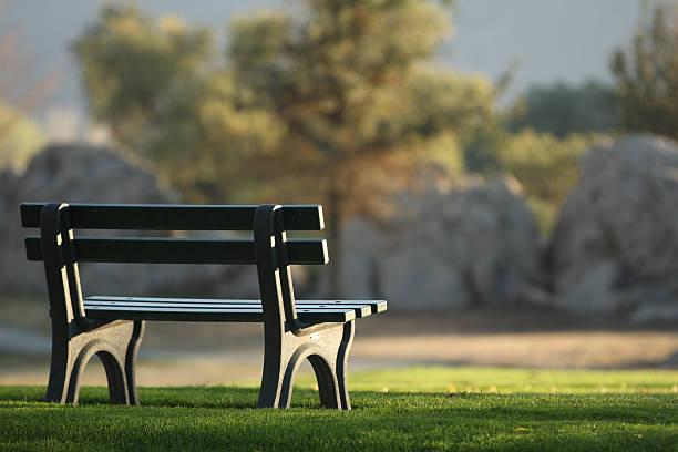 Vide Banc dans le parc. - Photo