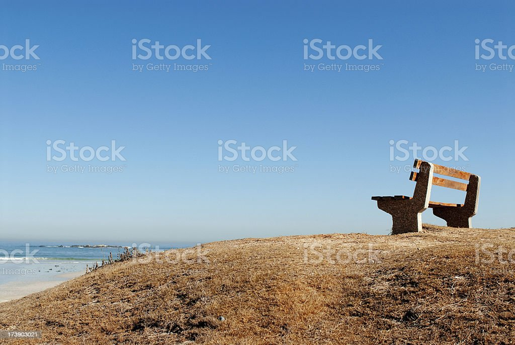 Empty bench stock photo