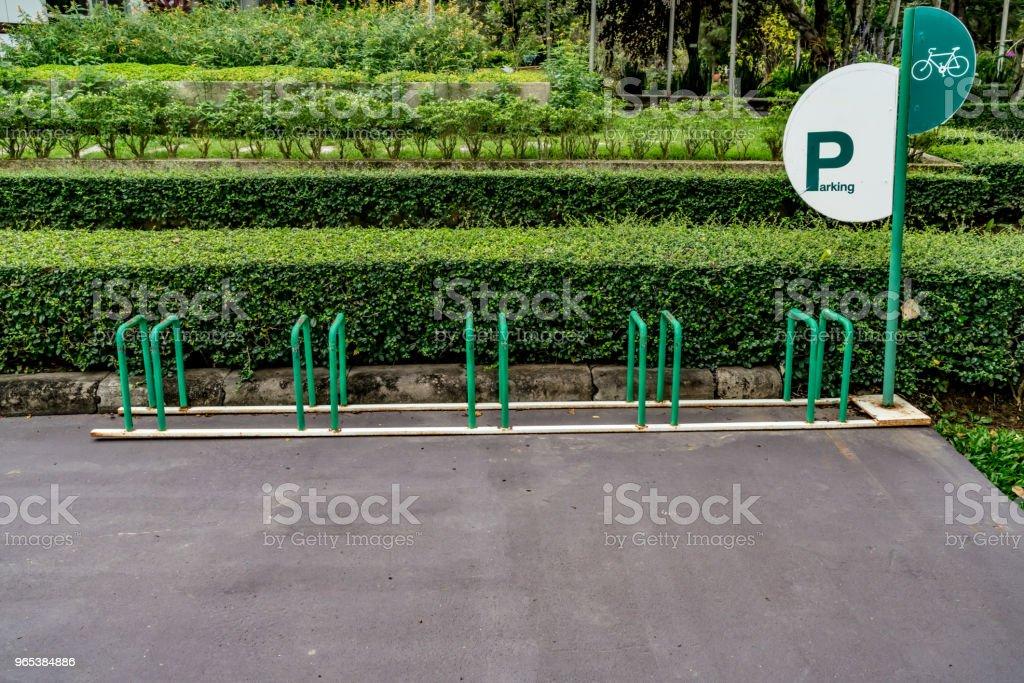 空自行車停車場 - 免版稅交通圖庫照片