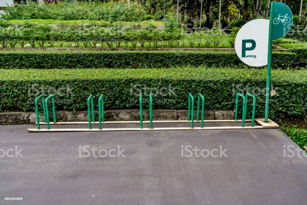 Leere Fahrrad Parken - Lizenzfrei Fahrrad Stock-Foto