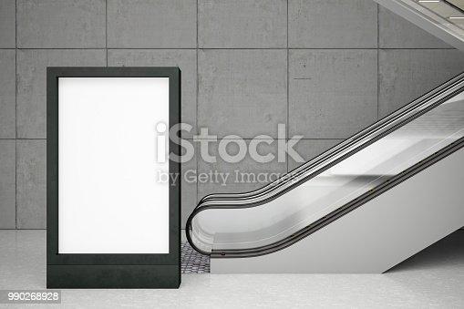 istock Empty Bilboards with Escalator 990268928