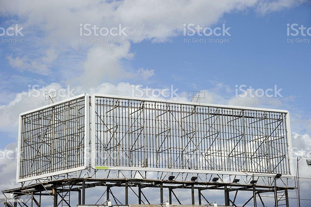 Empty Billboard Frames Corner stock photo