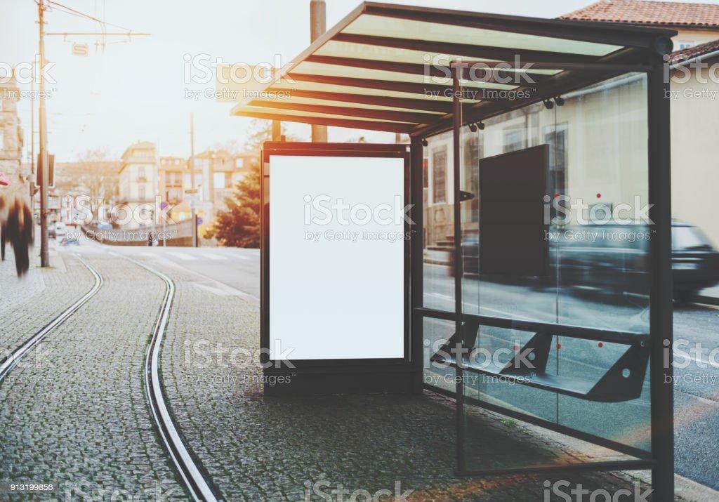 Leeren Plakatwand innerhalb des s-Bahnstation – Foto