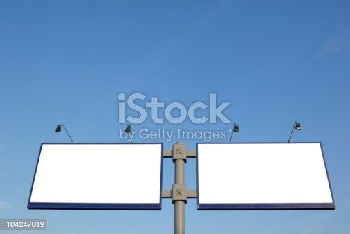 istock Empty billboard 104247019