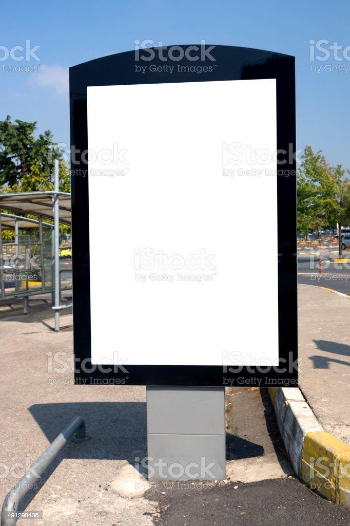 Empty Billboard stock photo