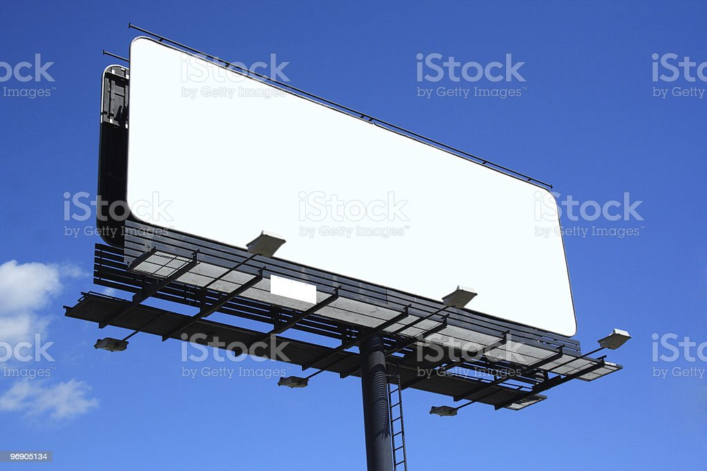 empty billboard royalty-free stock photo