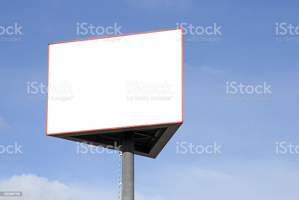 Empty Billboard Sign royalty-free stock photo