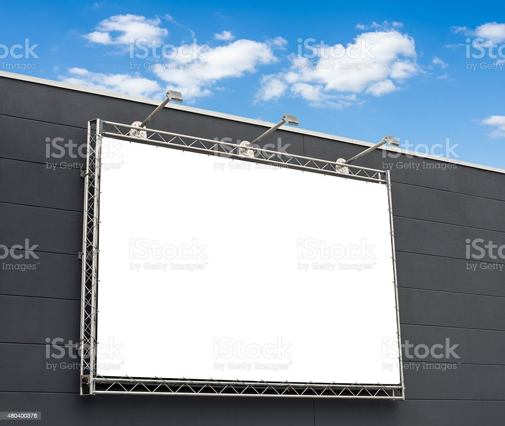 Empty billboard with copy space stock photo