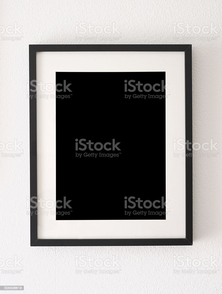empty black frame stock photo