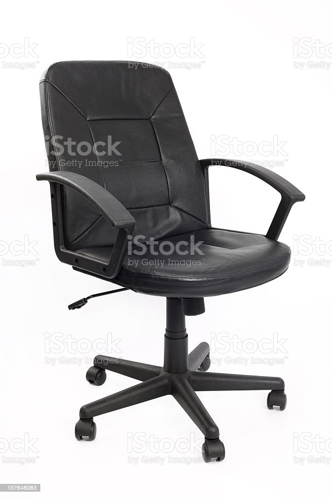 Empty Black Office Chair royalty-free stock photo
