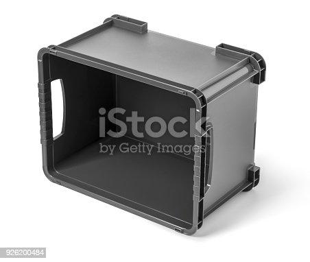 istock Empty black plastic container 926200484