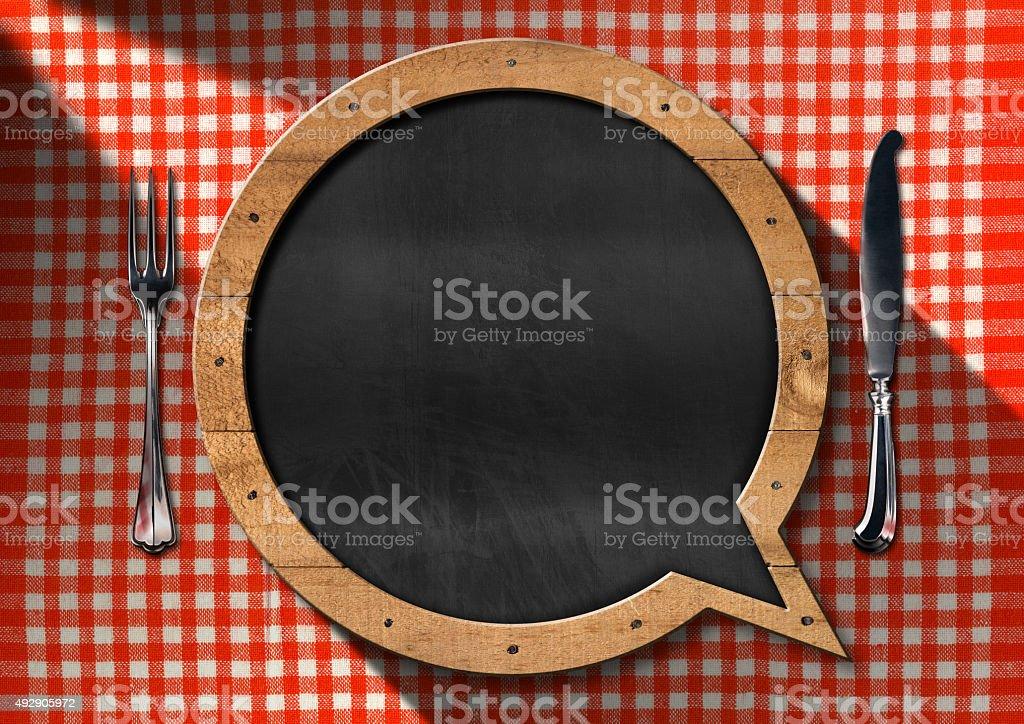 Empty Blackboard for a Restaurant Menu stock photo