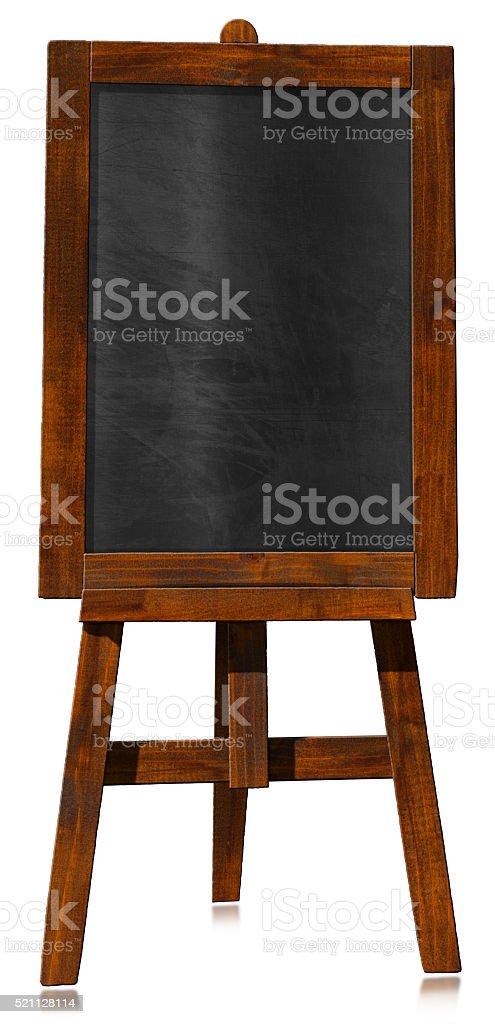 Empty Blackboard on a Easel stock photo