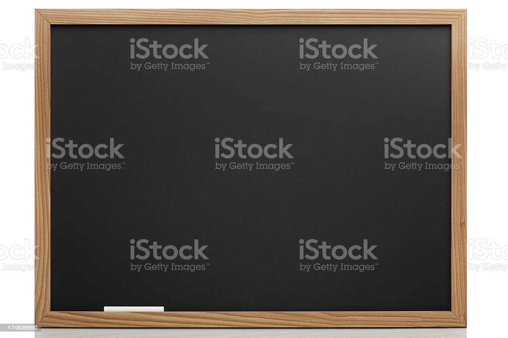 Empty Blackboard With Clipping Path stock photo