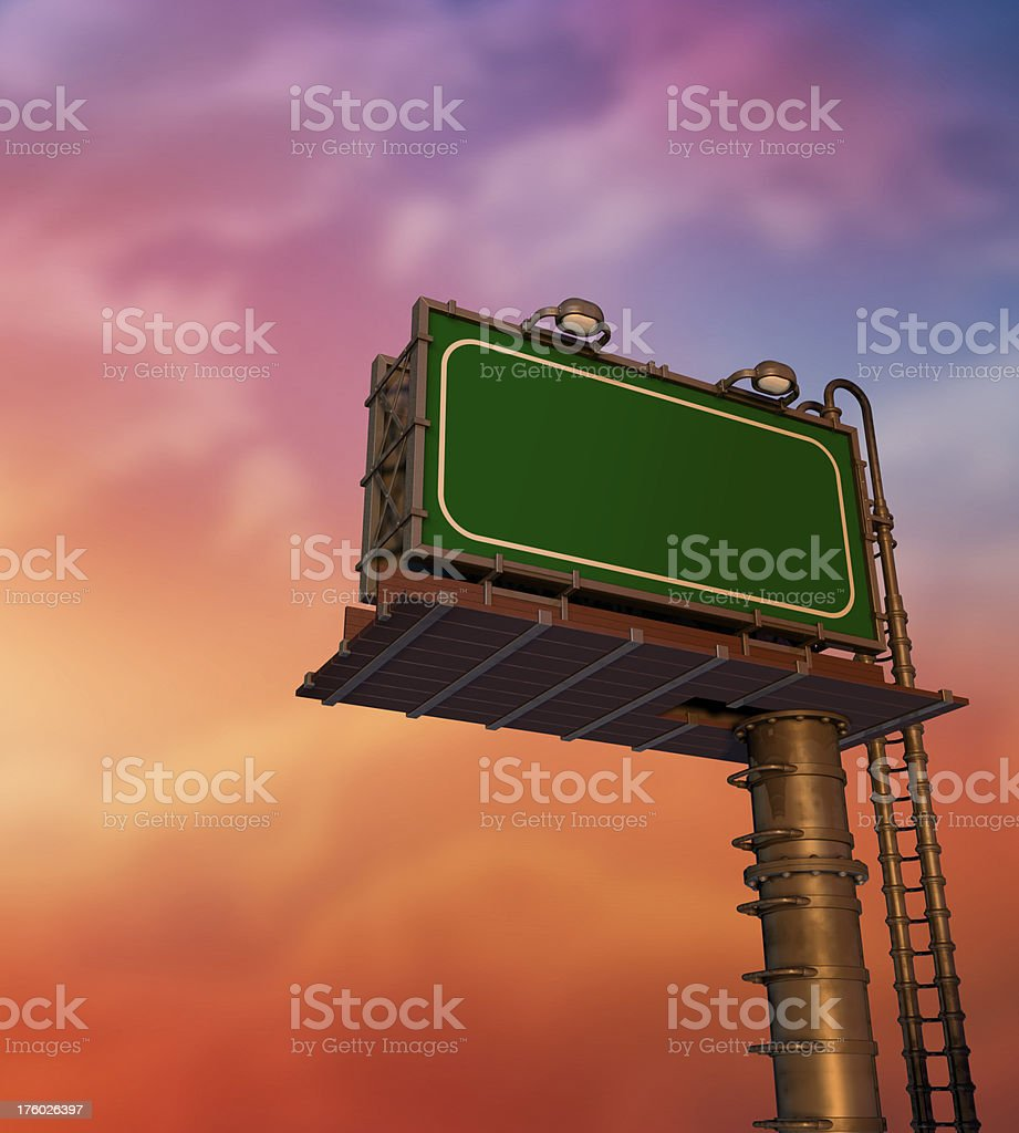 Empty, Blank Billboard at Sunrise royalty-free stock photo